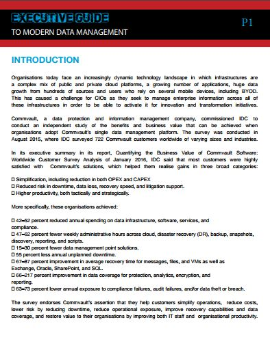 Commvault Executive Guide To Modern Data Management Supported by Commvault.JPG