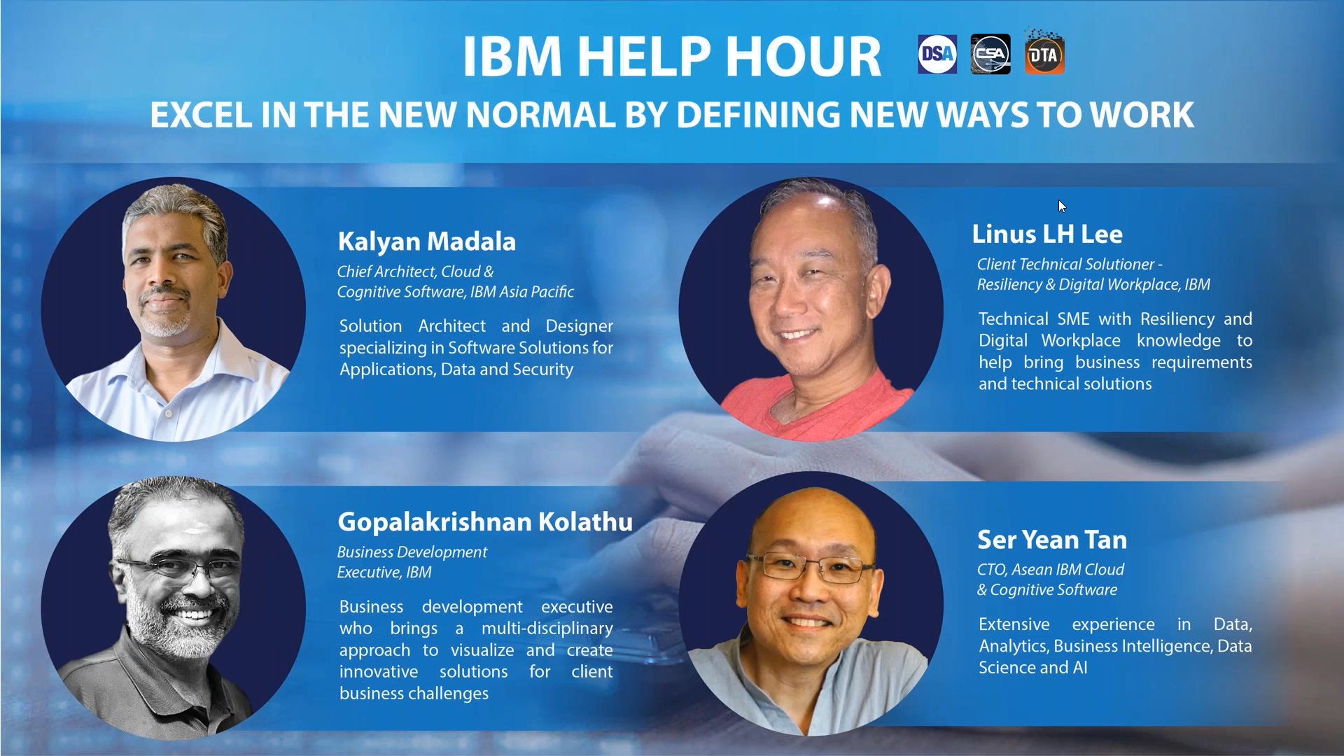 IBM Help Hour 2 - Excel in The New Normal by Defining New Ways to Work.