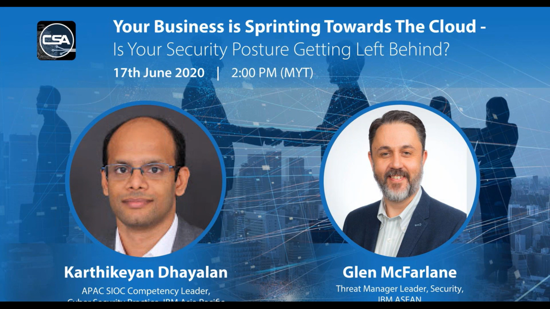 Your Business is Sprinting Towards The Cloud : Is Your Security Posture Getting Left Behind (SG) -  For Registrations.