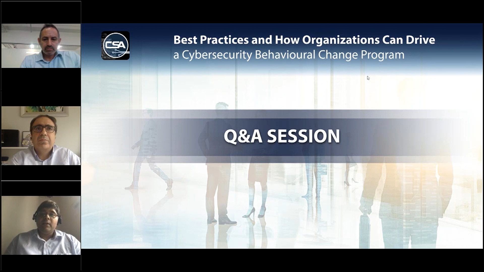 IBM Security Webinar - Best Practices & How Organizations Can Drive a Cybersecurity Behavioural Change Program. - ATTENDANCE .