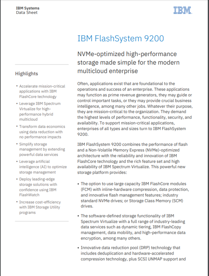 FlashSystem 9200 Data Sheet.pdf