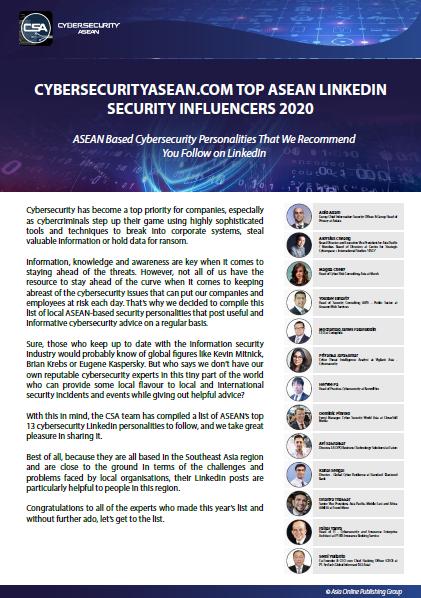 Cybersecurityasean.com Top ASEAN LinkedIn Security Influencers 2020.pdf
