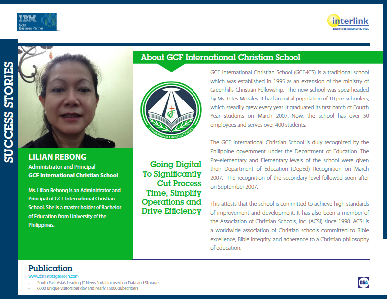 IBM Success Story with GCF International Christian School.pdf
