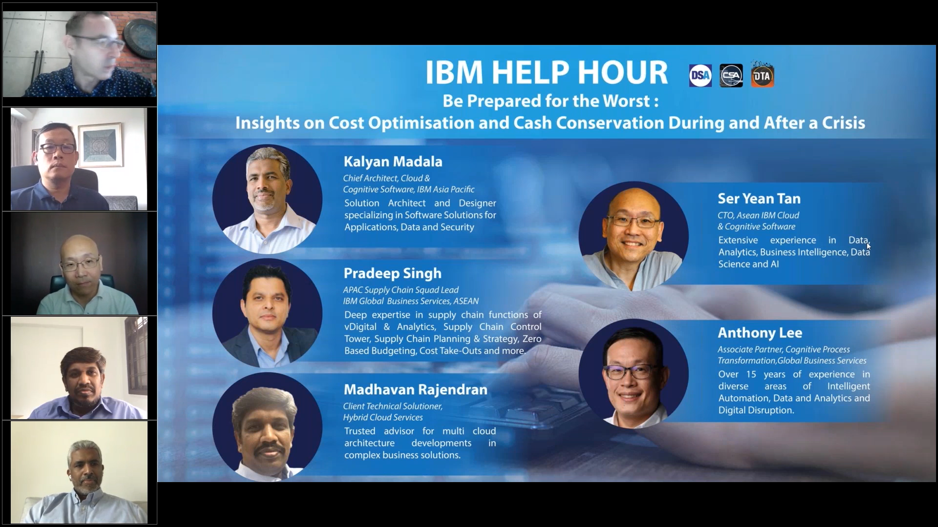 IBM Help Hour 3–Plan For The Best, Prepare for the Worst: Insights on Cost Optimisation and Cash Conservation During and After a Crisis.