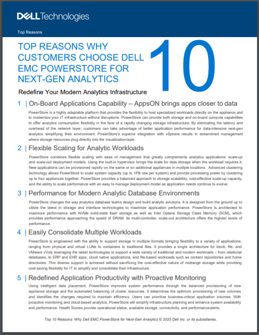 TOP REASONS WHY CUSTOMERS CHOOSE DELL EMC POWERSTORE FOR NEXT-GEN ANALYTICS (SG).pdf