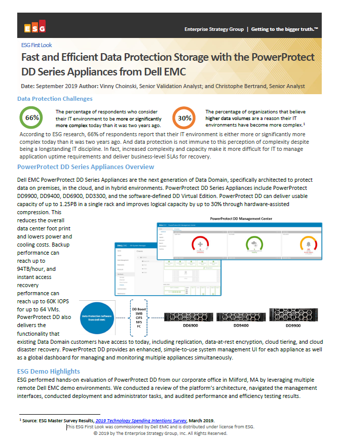 Fast and Efficient Data Protection Storage with the PowerProtect DD Series Appliances from Dell EMC - IND.pdf