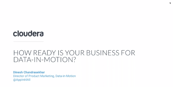 How Ready Is Your Business For Data In Motion - Cloudera Shares Insights From Their ASEAN Wide Survey.