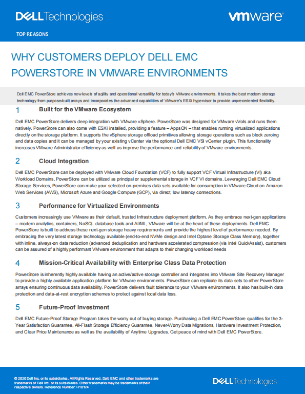 WHY CUSTOMERS DEPLOY DELL EMC POWERSTORE IN VMWARE ENVIRONMENTS (SG).pdf