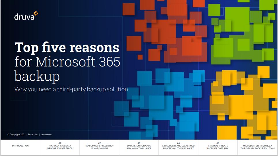 eBook - Top five reasons for Microsoft 365 backup.PDF