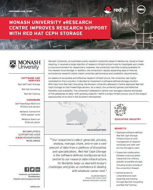 Monash University eResearch Centre Improves Research Support with Red Hat Ceph Storage.pdf