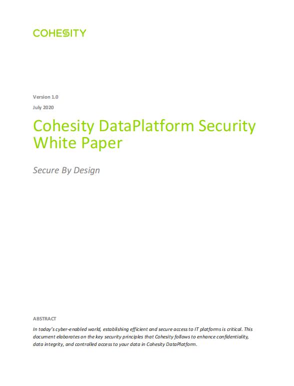 Cohesity DataPlatform Security  White Paper.pdf