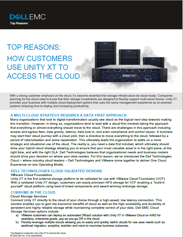TOP REASONS: HOW CUSTOMERS USE UNITY XT TO ACCESS THE CLOUD-MY.pdf