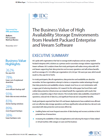 Availability and Protection Saves $1.39Million.pdf