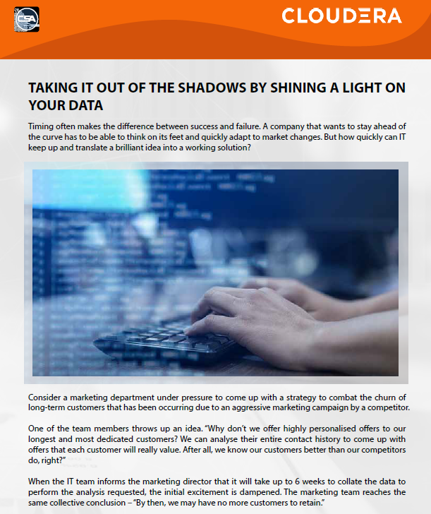 Taking IT Out Of The Shadows By Shining A Light On Your Data.pdf