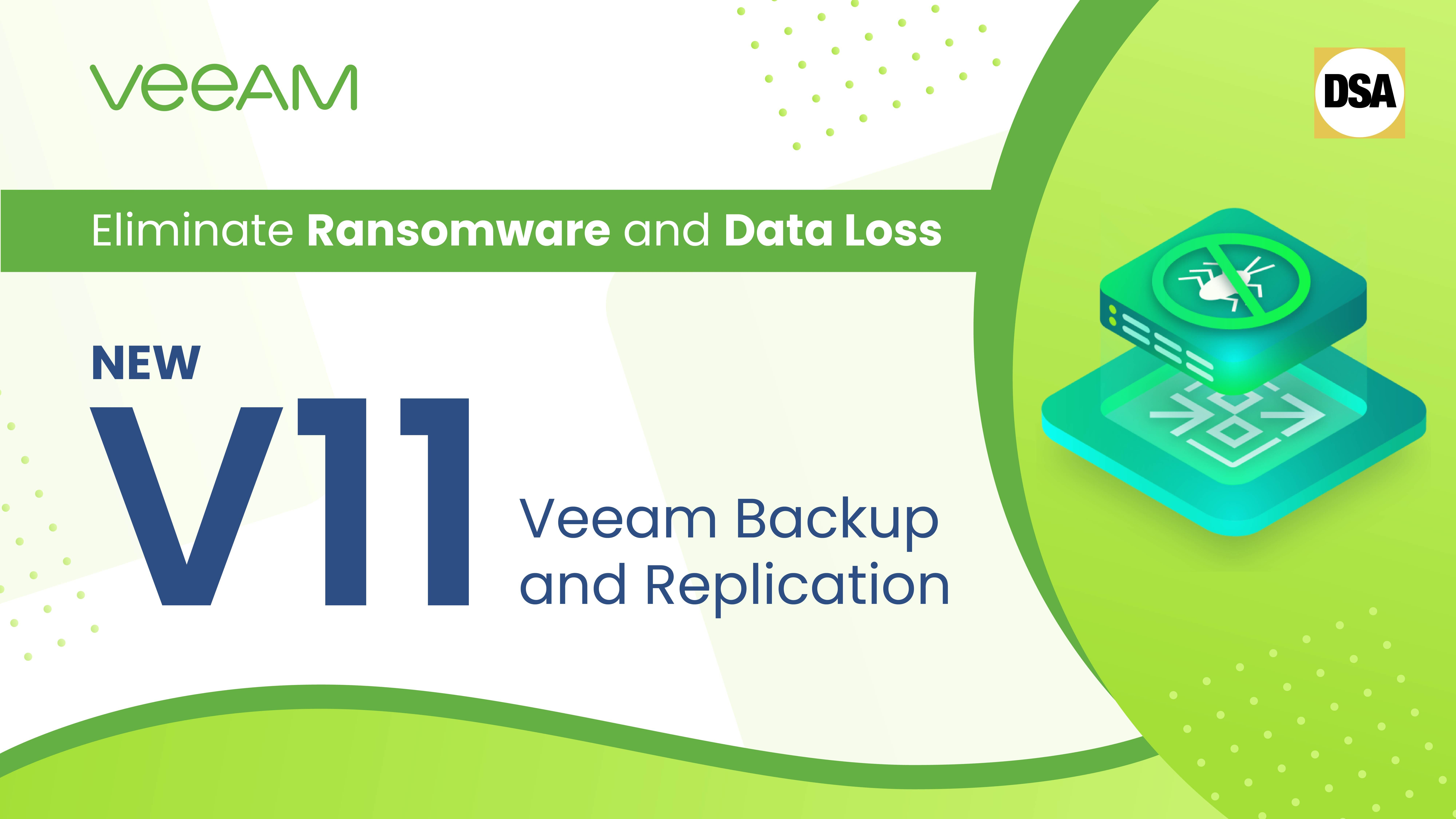 Webinar - Eliminate Ransomware and Data Loss with the New Veeam Backup and Replication v11.
