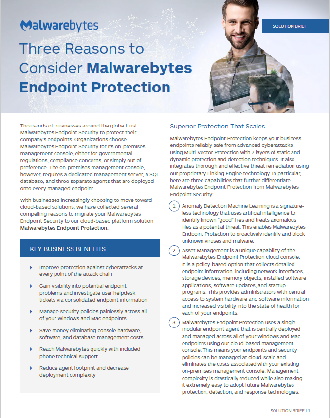 Three Reasons to Consider Malwarebytes Endpoint Protection.pdf