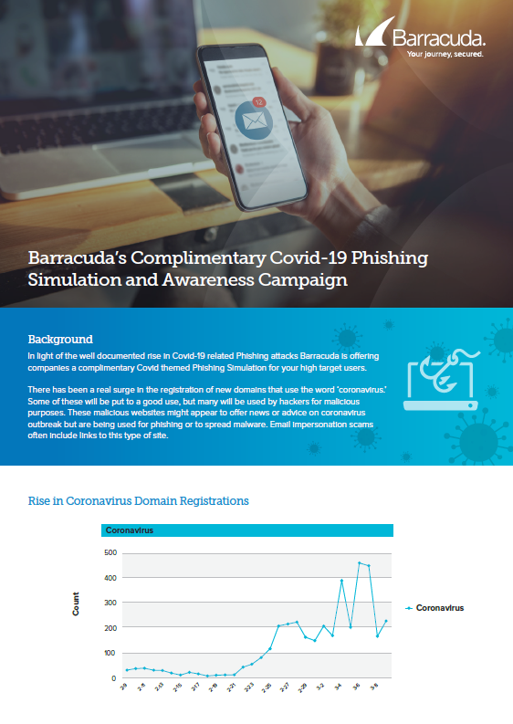 Barracuda's Complimentary Covid-19 Phishing Simulation and Awareness Campaign.pdf