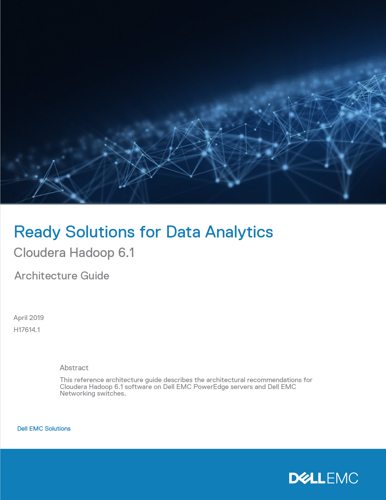 Ready Solutions for Data Analytics : Cloudera Hadoop 6.1 Architecture Guide.pdf
