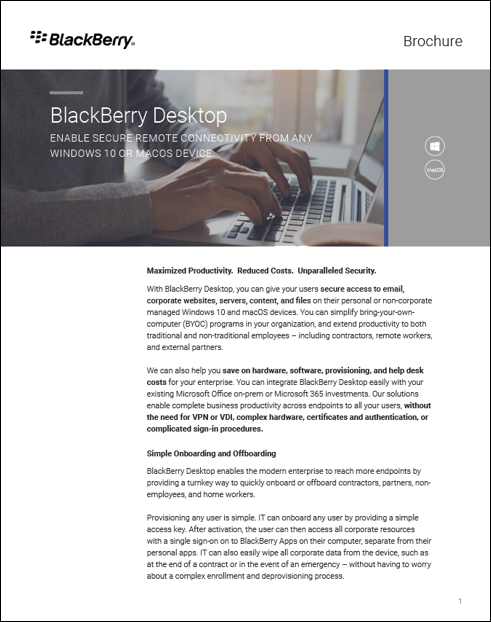 Blackberry Desktop Enable Secure Remote Connectivity from Any Windows 10 Or MacOS Device.pdf