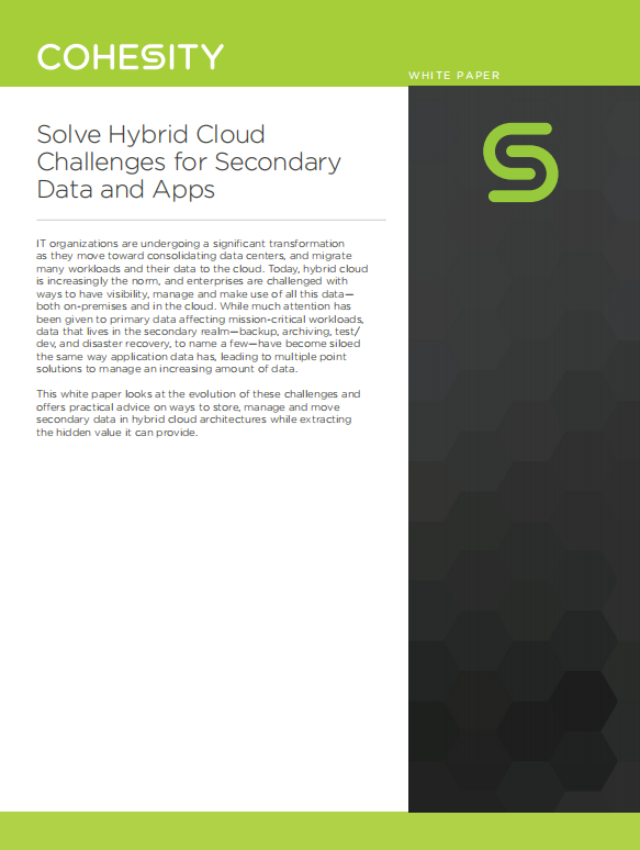 Solve Hybrid Cloud  Challenges for Secondary  Data and Apps.pdf