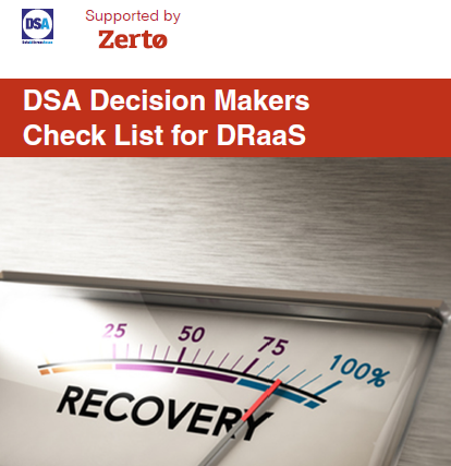 DSA Decision Makers Checklist for DRaaS Supported by Zerto.pdf