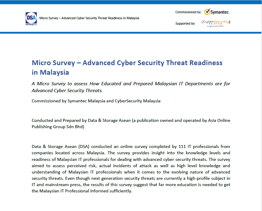 Micro Survey – Advanced Cyber Security Threat Readiness  in Malaysia .pdf